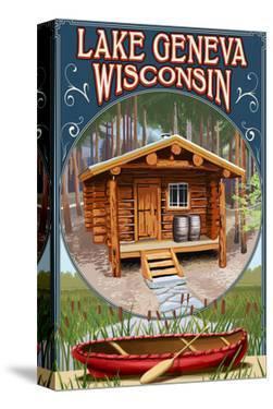 Lake Geneva, Wisconsin - Cabin in Woods by Lantern Press