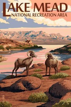 Lake Mead - National Recreation Area - Bighorn Sheep by Lantern Press