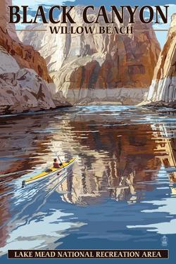 Lake Mead - National Recreation Area - Black Canyon Kayaker by Lantern Press