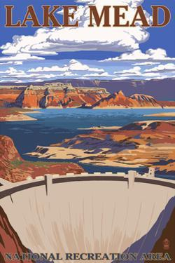 Lake Mead - National Recreation Area - Dam View by Lantern Press