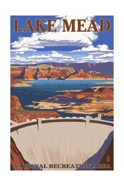 Lake Mead - National Recreation Area - Dam View by Lantern Press