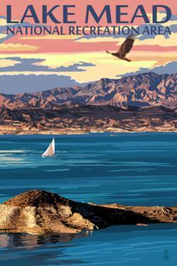 Lake Mead - National Recreation Area - Lake View by Lantern Press
