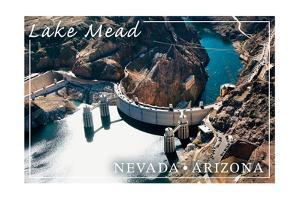 Lake Mead, Nevada - Arizona - Hoover Dam View by Lantern Press