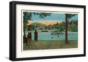 Lake Placid, New York - Exterior View of the Lake Placid Club from the Beach, c.1916 by Lantern Press