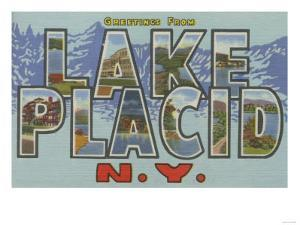 Lake Placid, New York - Large Letter Scenes by Lantern Press