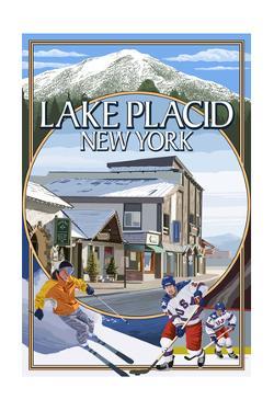 Lake Placid, New York - Montage Scenes by Lantern Press