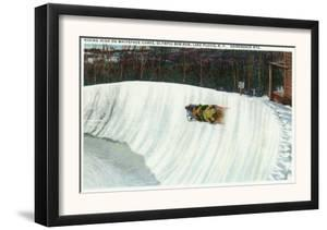 Lake Placid, New York - Riding the Whiteface Curve on the Olympic Bobsled Run by Lantern Press