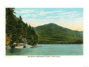 Lake Placid, New York - View of Whiteface Mountain from Moose Island by Lantern Press