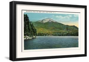 Lake Placid, New York - View of Whiteface Mountain from the West Lake, c.1916 by Lantern Press