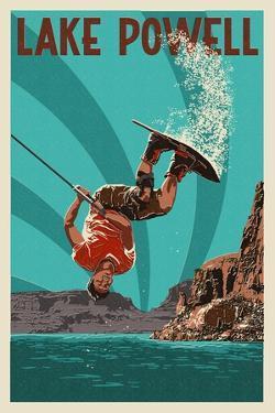 Lake Powell - Wakeboarder by Lantern Press