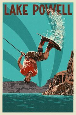 Lake Powell - Wakeboarder by Lantern Press