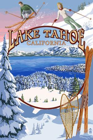 Lake Tahoe, CA Winter Views by Lantern Press