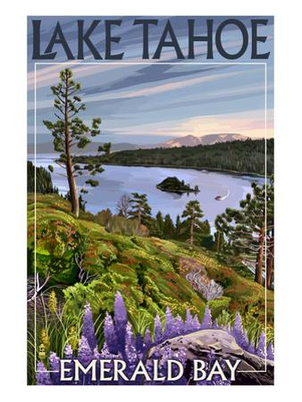 Lake Tahoe, California - Emerald Bay by Lantern Press