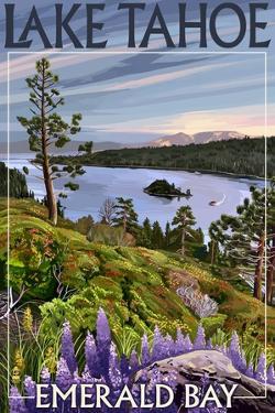 Lake Tahoe, California - Emerald Bay by Lantern Press