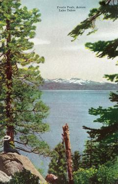 Lake Tahoe, California - Freels Peak View from Lake by Lantern Press