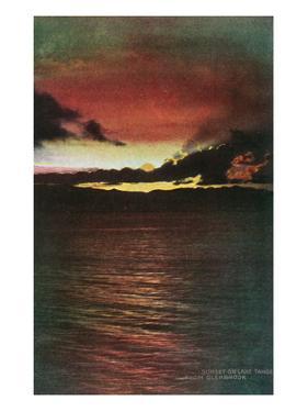 Lake Tahoe, California - Glenbrook, Sunset Scene on the Lake by Lantern Press