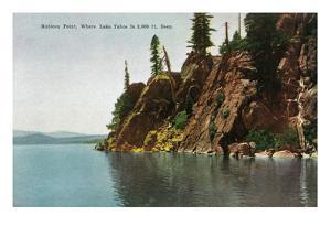 Lake Tahoe, California - Rubicon Point, Where Lake Is 2000 Ft Deep by Lantern Press