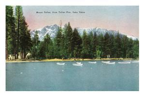 Lake Tahoe, California - Tallac Pier View of Mount Tallac by Lantern Press
