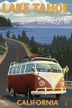 Lake Tahoe, California - VW Coastal Drive by Lantern Press