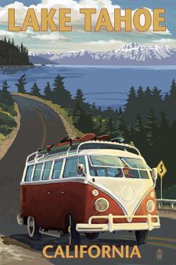 Lake Tahoe, California - VW Coastal Drive by Lantern Press