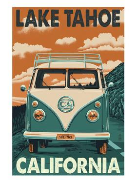 Lake Tahoe, California - VW Van by Lantern Press