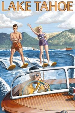 Lake Tahoe, California - Water Skiing Scene by Lantern Press
