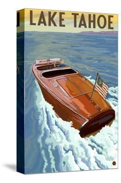 Lake Tahoe, California - Wooden Boat by Lantern Press