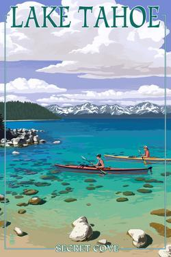 Lake Tahoe - Kayakers in Secret Cove by Lantern Press