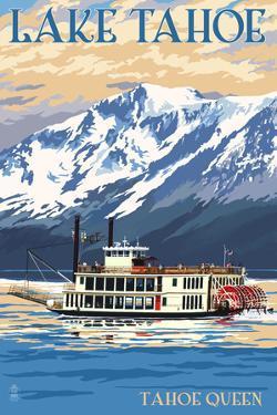 Lake Tahoe - Tahoe Queen Paddleboat by Lantern Press