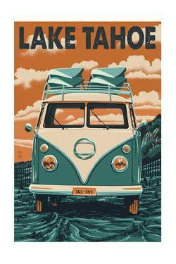 Lake Tahoe - VW Van by Lantern Press