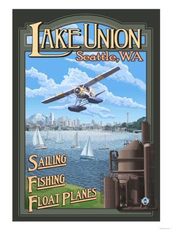 Lake Union Float Plane, Seattle, Washington by Lantern Press