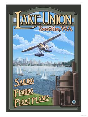 Lake Union Float Plane, Seattle, Washington by Lantern Press
