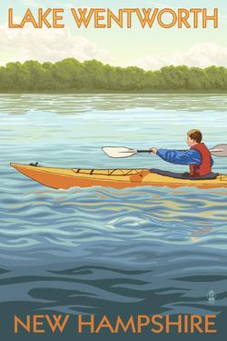 Lake Wentworth, New Hampshire - Kayak Scene by Lantern Press