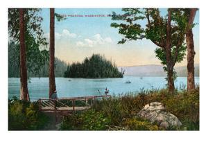 Lake Whatcom, Washington, View of the Lake near Bellingham by Lantern Press
