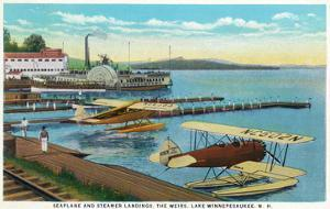 Lake Winnepesaukee, New Hampshire - Seaplanes at the Weirs by Lantern Press