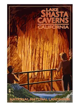 Lakehead, California - Cavern and Lake Scene - National Natural Landmark by Lantern Press