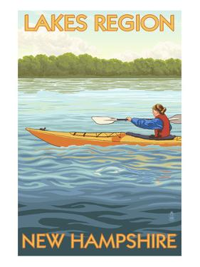 Lakes Region, New Hampshire - Kayak Scene by Lantern Press