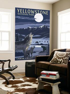 Lamar Valley Scene, Yellowstone National Park by Lantern Press