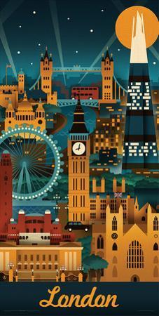 Lantern Press- London Retro Skyline