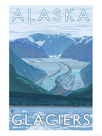 Large Glacier Scene, Alaska by Lantern Press