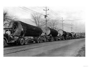 Larson Logging Co with 13 Truck Caravan - Bellingham, WA by Lantern Press