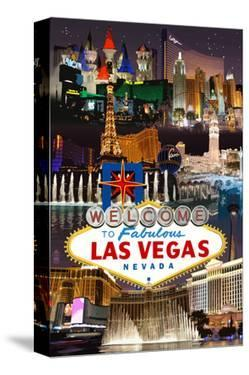 Las Vegas Casinos and Hotels Montage by Lantern Press