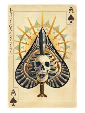 Las Vegas, Nevada - Ace of Spades by Lantern Press