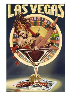 Las Vegas, Nevada - Casino Pinup Girl by Lantern Press