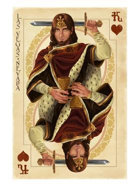 Las Vegas, Nevada - King of Hearts by Lantern Press