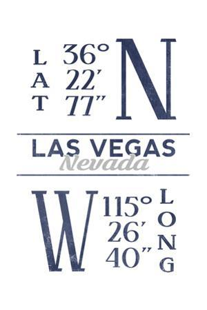 Las Vegas, Nevada - Latitude and Longitude (Blue)