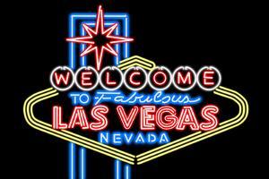 Las Vegas, Nevada - Neon Lights Welcome Sign by Lantern Press