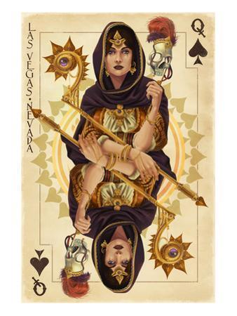Las Vegas, Nevada - Queen of Spades by Lantern Press