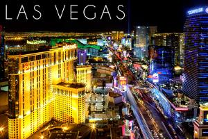 Las Vegas, Nevada - the Strip at Night by Lantern Press
