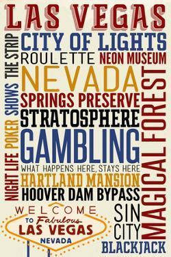 Las Vegas, Nevada - Typography by Lantern Press